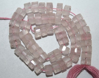 Natural AAA Quality Rose Quartz 4 to 5mm Faceted Tyre Gemstone Beads 13 Inches FTR04