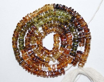 Natural AAA Quality Petro Tourmaline 3mm Smooth Square Gemstone Beads 13 Inches MX022