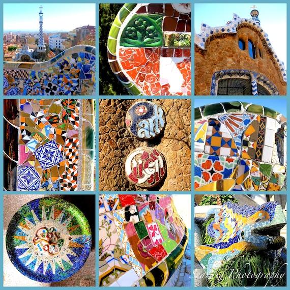 Articles similaires parc guell photocollage color - Maison decor barcelona ...