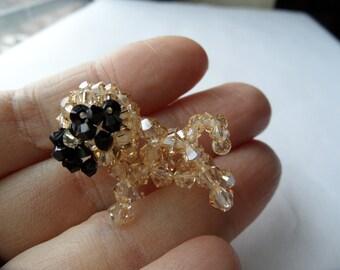 Golden Shadow pug -  Swarovski Crystal Miniature figure