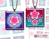 SAKURA BLOSSOM - 1x1 inch, 1.5x1.5 inch & 7/8x7/8 inch Tiles Digital Collage Sheet Printable Download for pendants magnets