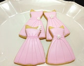 Bridesmaids dress cookies