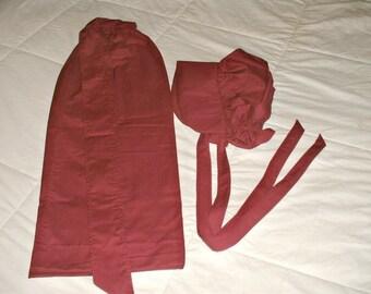 Pioneer apron bonnet set