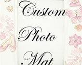 Custom Pretty in Pink 11x14 Photo Mat for Pam