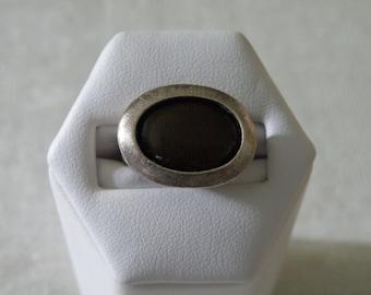Mid Century Labradorite Sterling Silver Ring - Size 6 1/2 U.S.