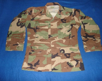 Used - Grab Bag SALE.  US Military Issue Woodland Camo Jacket, BDU Shirt.