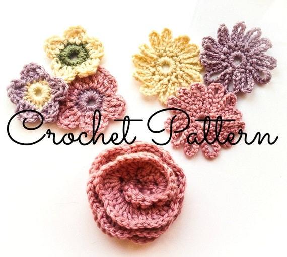 Crochet Flower Written Pattern : Crochet Pattern/Written Instructions by BlueberryBarnDesigns