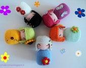 Amigurumi Crochet Pattern: Spring Kokeshi (ENGLISH version) - Instant digital download PDF