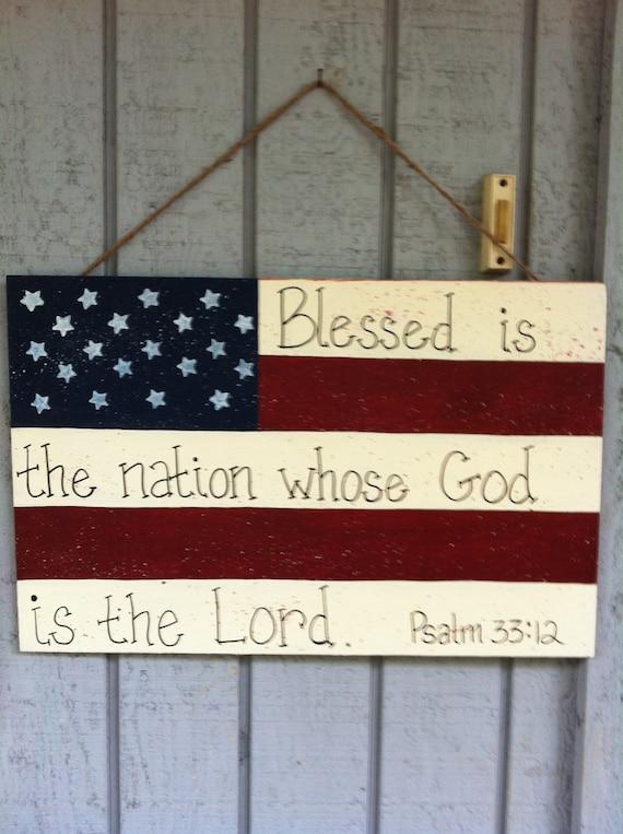Items Similar To American Flag Door Hanger On Etsy