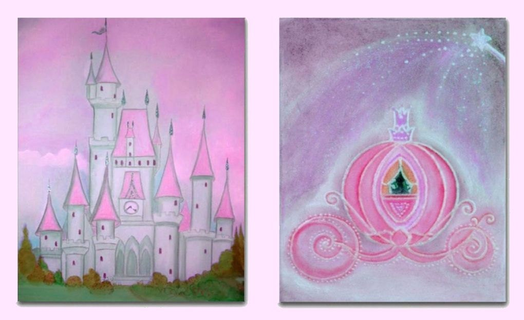 Princess baby room fairy princess decor nursery by for Fairy princess mural