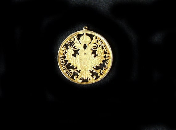Vintage Large cut out Medallion - copy of a Maria Theresa Thaler