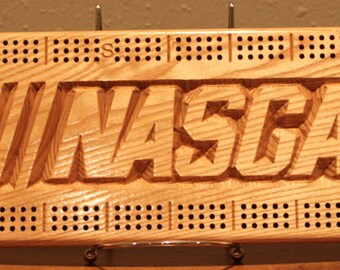 NASCAR Cribbage Board Made From Black Ash