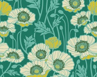 Pristine Poppy Teal JD058-TEALX from Notting Hill by Joel Dewberry for Westminster/ Free Spirit Fabrics