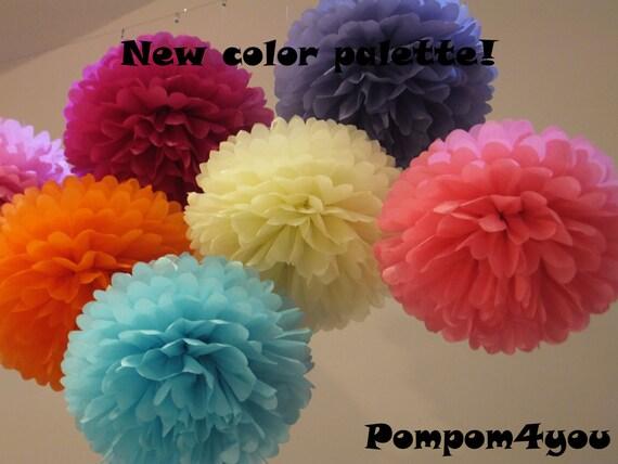 80 Mini Tissue Paper Pom Poms