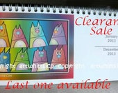 New Year SALE, Desk Calendar, 2013 calendar, White