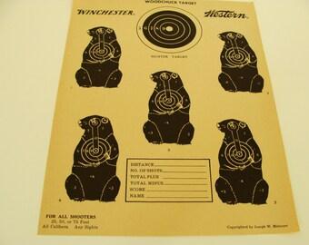 Vintage Ground Hog Target by Winchester / Western