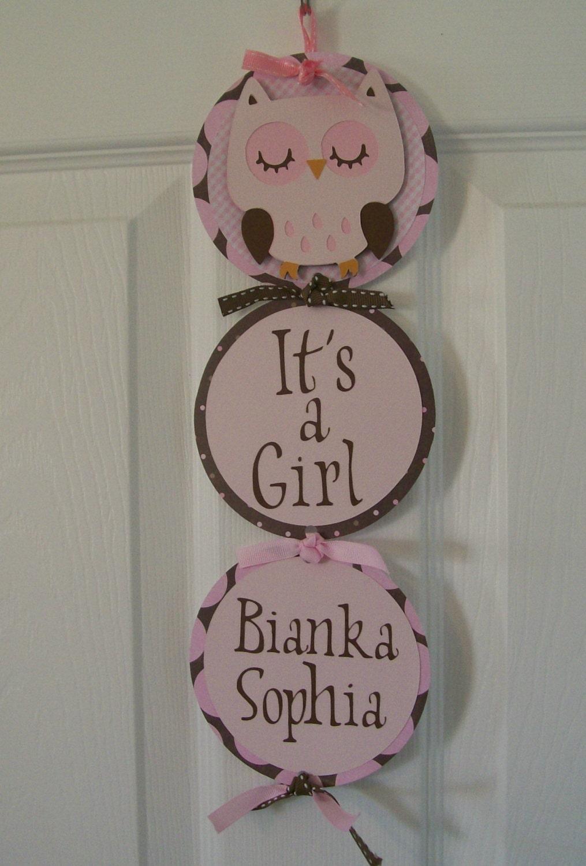 It 39 s a girl hospital door banner baby girl shower banner for Baby girl hospital door decoration