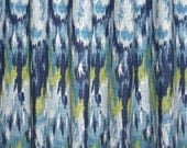 "CURTAIN DRAPERIES  - Two Curtain 50"" Wide by up to 84"" Long each - Ikat Craze - Birch Barkcloth Drapery Fabric in Frost"