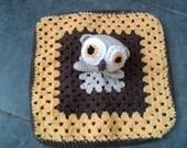 Crochet PDF Pattern - Hooty the Owl Lovey/Comforter