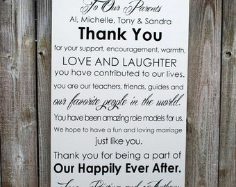 "Wedding Thank You Sign Custom Wedding Sign Extra Large 20""x30"""