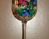 Custom handpainted wine glasses