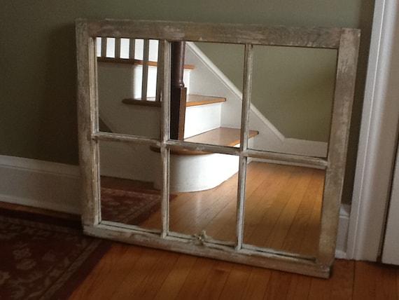 Vintage Window Mirror 32x27