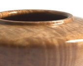 AAAA Curly Maple Hollow Vessel FB5115 Quilted Maple Figured Maple Bowl