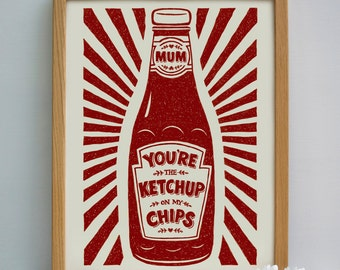 Mum's Ketchup Print | Mother's Day Gift