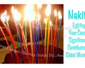 Lighting Your Candles Significantly Contributes To Global Warming...EMAIL SERVICE ....Adult Birthday Card