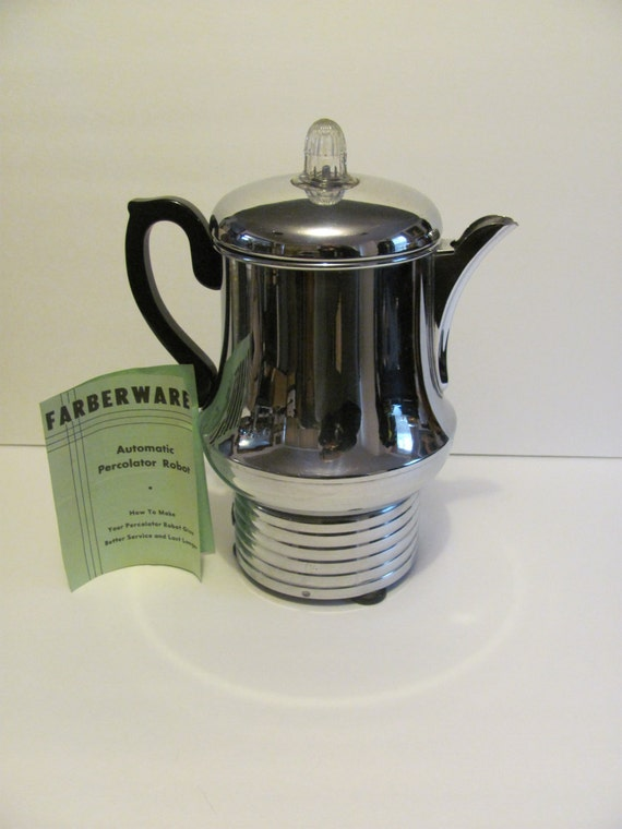 Farberware Automatic Coffee Maker Instructions : Vintage Farberware Automatic Percolator Robot by MamabirdsVintage