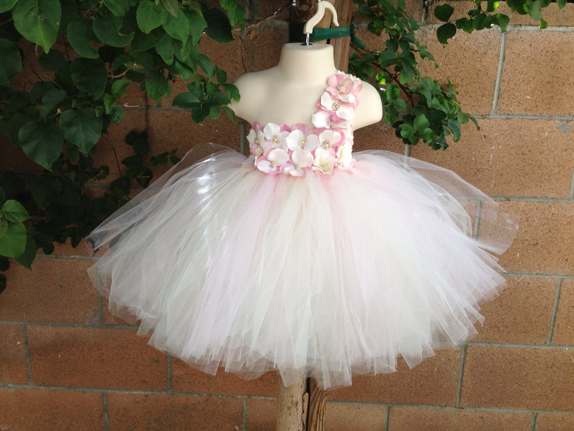 Girls Tutu Dress Floral Girls Dress Shabby Chic Dress by ...