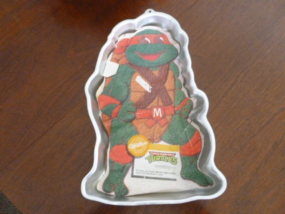 ninja turtle cake pan 1989 wilton mutant turtles michaelangelo cake 6175