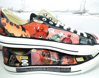 Men's Comic Book Custom Sneakers. Bachelor Party Package. The Avengers