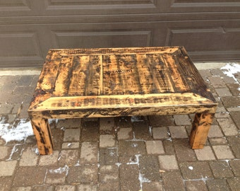 Reclaimed wood, natural coffee table