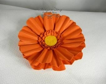 3D Paper Gerbera daisy 4 inch diameter.