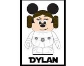 4x6 Custom Personalized Star Wars Princess Leia Disney Cruise Line Stateroom Door Magnet