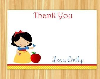 Snow White Thank You Card | Snow White | Princess Thank You Card | Princess Party