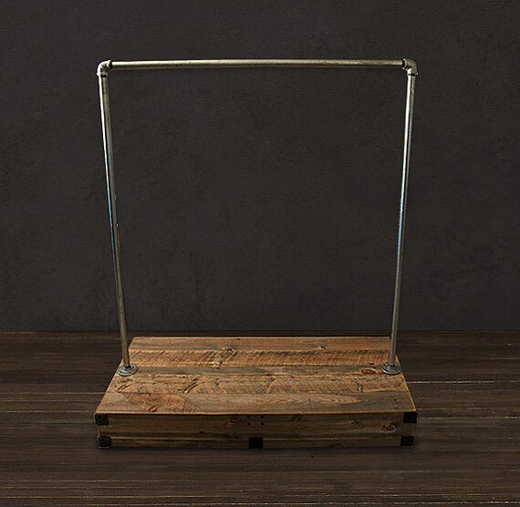 reclaimed wood clothes rack. Black Bedroom Furniture Sets. Home Design Ideas