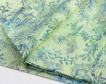 Mint Batik Napkins//Indonesian Batik Cloth Napkins//Set of 2