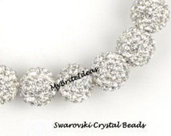 5 CRYSTAL 6MM Swarovski Crystal Elements Disco Ball Beads aka Pave Rhinestone Disco Ball Beads