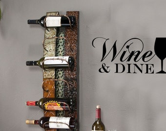 Wine & Dine Kitchen Vinyl Wall Decal