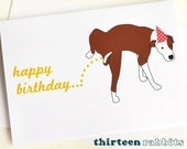 Happy Pissin' Birthday Funny Crude Dog Animal Greetings Card