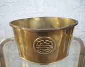 Vintage Brass Flower Pot