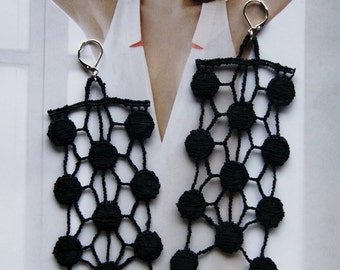 EDEN // Black Lace Earrings // Statement Jewelry // Accessories