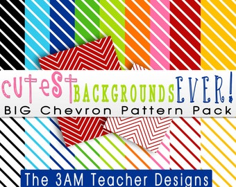 Cutest Backgrounds Ever: Big Chevron Pattern Pack