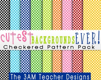 Cutest Backgrounds Ever: Checkered Pattern Pack