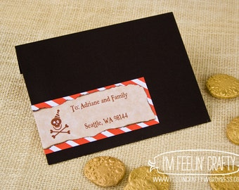 Pirate Party Wrap Around Address Labels- Printable