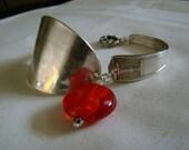 Silverware Jewelry - Antique Bracelet - Silver Spoon Bracelet
