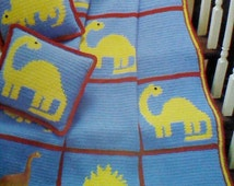 Crochet Dinosaur Afghan Pattern : Popular items for dinosaur blanket on Etsy