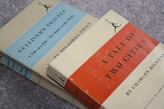 Pair of Paperbacks: A Tale of Two Cities and Gulliver's Travels, Modern Library College Editions, 1950